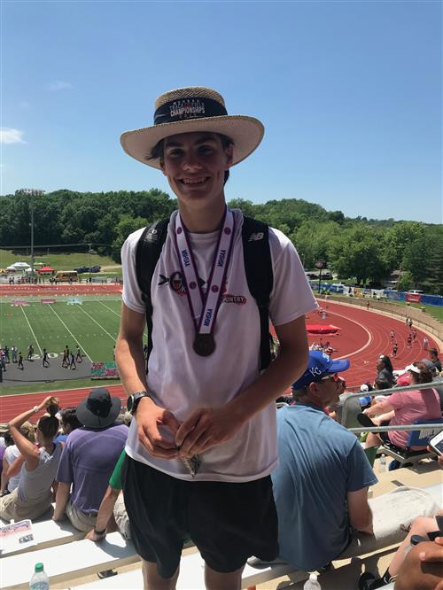 Christian Baker State Champion 3200m run/ 4th place 1600m run