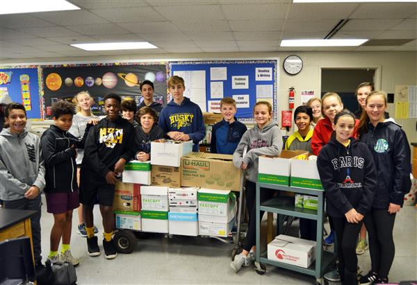 Kirkwood School District Students and Staff Collect Items for Over 160 Families