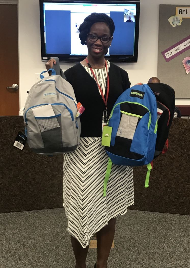 Dr. Shonda-Ambers Phillips Accepts Backpacks
