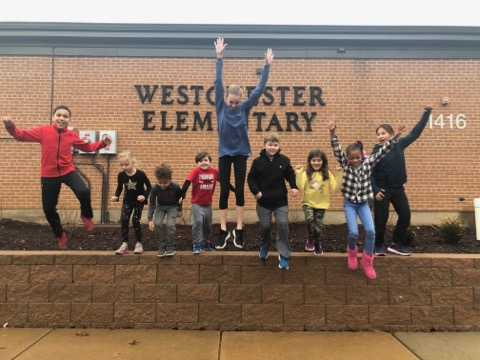 Westchester students jump for joy upon learning the school was nominated as a Blue Ribbon School.