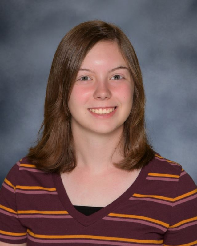 "Sophomore Megan McGhee won the poetry contest for her submitted poems ""Rings"" and ""Oldest Moon."""